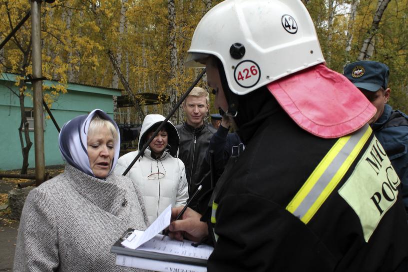 Украинских беженцев в Омске проверили в пожарных учениях