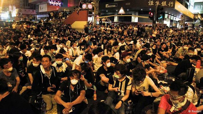 Майдан в Гонконге: тысячи человек вышли на улицы требовать честных выборов