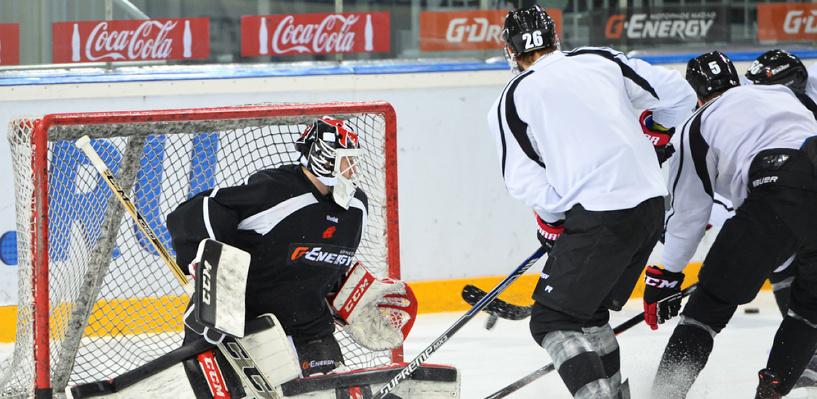 Омский «Авангард» провел открытую тренировку перед плей-офф