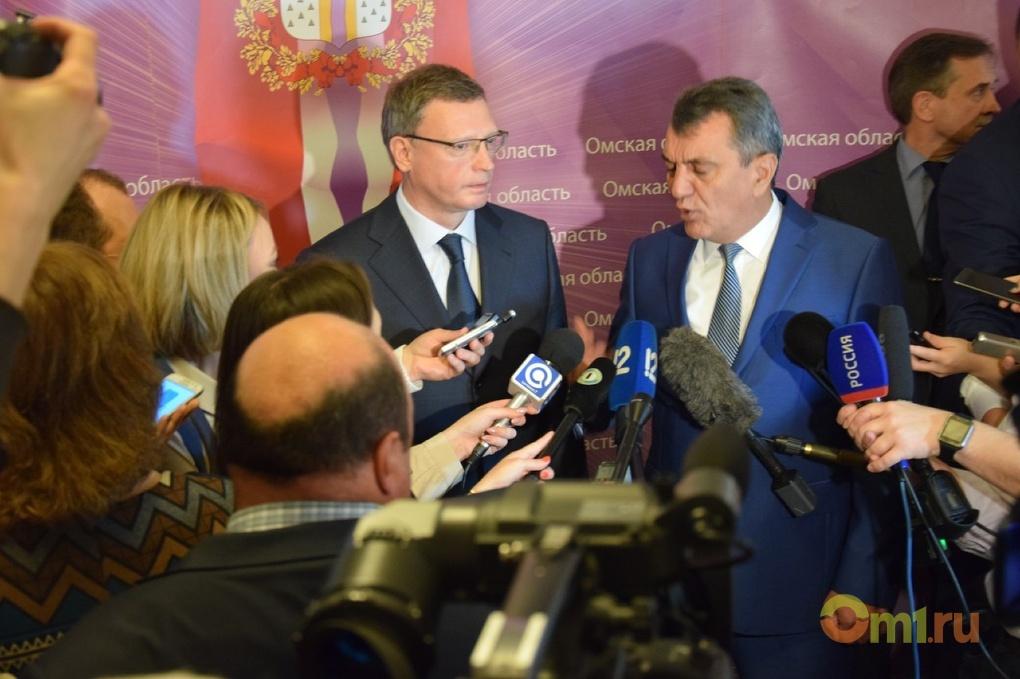 Врио руководителя Омской области отправил руководство региона вотставку