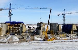 Толоконский и Назаров побывали на строительстве омского гидроузла