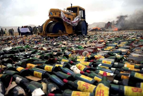 В Омске будет уничтожено 2000 литров алкоголя