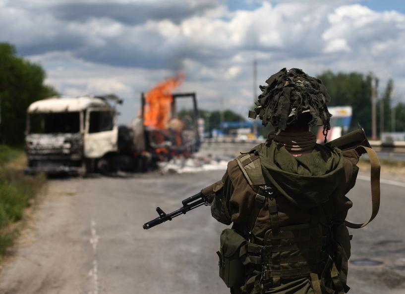 Украина заявила о задержании российского офицера на грузовике с боеприпасами