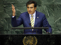 Российские дипломаты встали и ушли из зала ООН во время выступления Саакашвили