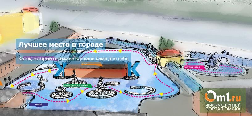 В Омске планируют открыть «Городской каток»