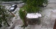 На Омск обрушился ливень и град