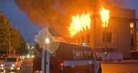 В Омской области горела квартира в брусовом доме