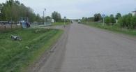В Омской области мотоциклист улетел в кювет