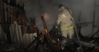 В Омской области горел магазин в деревне Клаус