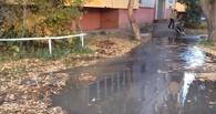 В Омске на бульваре Зеленом прорвало трубу