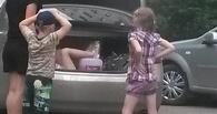 Омичка возит детей в багажнике своего авто