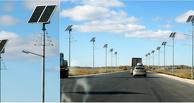 На трассе Тюмень-Омск установили фонари на солнечных батареях