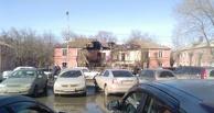 На Масленникова в Омске обрушился аварийный дом (фото)