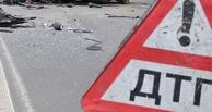 В Омской области столкнулись автобус и легковушка