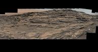 Марсоход Curiosity сделал панораму песчаных окаменелых дюн Марса