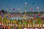 День России в Омске: сабантуй, танцы на улице и гонки на внедорожниках
