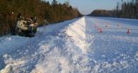 В Омской области в аварии на автомобиле УАЗ пострадала 70-летняя женщина