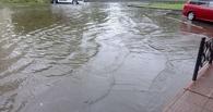 Из-за вчерашнего ливня в Омске затопило улицу Дмитриева