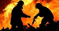 На севере Омской области полностью сгорел сельский магазин