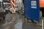 В Омске у «Голубого огонька» просели плиты на проезжей части