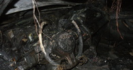 В Омске за 15 минут дотла сгорел BMW X5