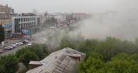 В Омске бывшие склады минобороны тушили 7 пожарных машин