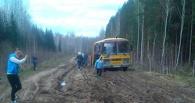 В Омской области школьники из-за плохих дорог не могут добраться в родное село Назарова