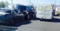 В Омске сразу семь автомобилей попали в ДТП