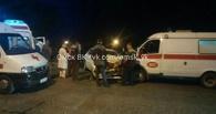 В Омске пьяная женщина на иномарке протаранила машину скорой помощи