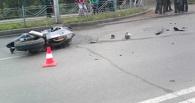 В Омске на 24-Северной мотоциклист протаранил авто (фото)