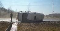 На дороге Омск-Тара опрокинулась «Газель» с пассажирами