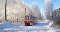 В Омске с рельсов сошел трамвай (фото)