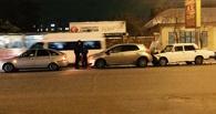 На проспекте Маркса в Омске столкнулись четыре машины