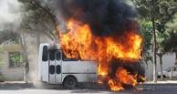 В Омске у цирка сгорели автобус и дорожный каток (ПОДРОБНОСТИ)