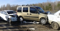 На трассе Омск – Черлак из-за тумана произошла массовая авария с 14 автомобилями