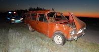 В Омской области пьяный водитель без прав перевернулся на машине вместе с ребенком