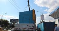 Двораковского заставляют убрать контейнеры у «Торгового города»