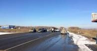 На трассе Тюмень – Омск столкнулись сразу пять иномарок