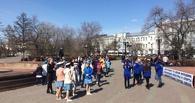 Зарядились танцем: в центре Омска устроили флешмоб