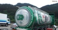Омская фура с пивом перевернулась под Новокузнецком