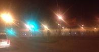 Левобережье Омска затянуло дымом с неприятным запахом