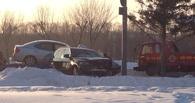 В Омске на Иртышской набережной столкнулись три иномарки