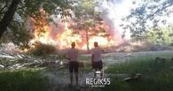В Омске загорелся срубленный лес в парке 30-летия ВЛКСМ