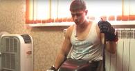 Десантник, который выжил при обрушении казармы в Омске, играет в следж-хоккей