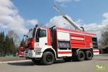 Омичам показали пожарную спецтехнику и робота-пожарного