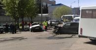 На улице 5-я Кордная из-за ямы на дороге произошла крупная авария