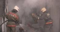 В Омске сгорел торговый павильон