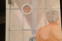 В Интернете появился автопортрет Буша-младшего, принимающего ванну