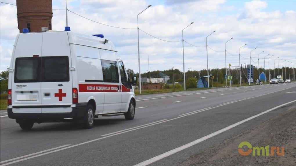 Под Омском погибли престарелые пассажиры автомобиля ВАЗ, врезавшегося в фургон DAF
