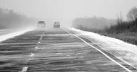 На трассе Омск-Майкапчагай Toyota опрокинулась в воду
